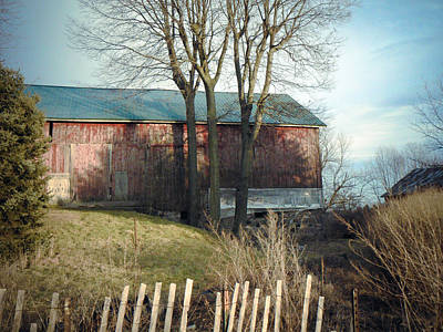 Mixed Media - Old Barn 2 by Connie Dye