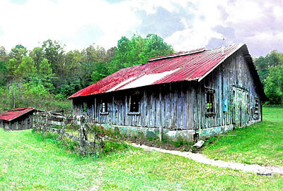 Photograph - Old Barn Along Golden Road Filtered by Duane McCullough