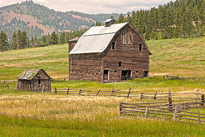 Photograph - Old Barn And Fence by Judi Baker