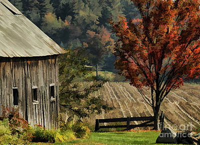 Photograph - Old Barn And Field by Kathleen Gauthier