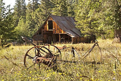 Photograph - Old Barn And Plow by Abram House