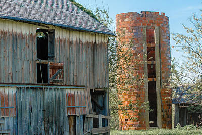 Photograph - Old Barn And Silo by Ben Graham