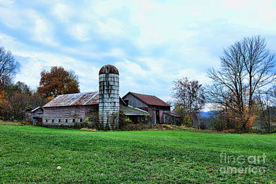 Old Barn And Silo Art Print by Paul Ward