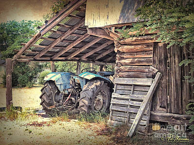 Old Barn And Tractor Art Print