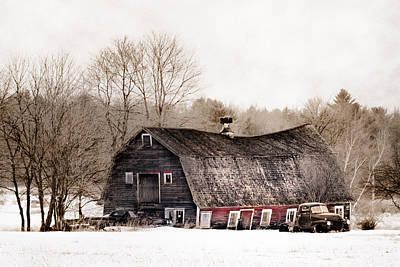 Old Barn Photograph - Old Barn And Truck - Americana by Gary Heller