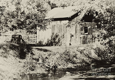Photograph - Old Barn And Truck by Wilma  Birdwell