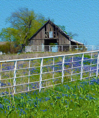 Old Barn - Another Spring Art Print by Robert J Sadler