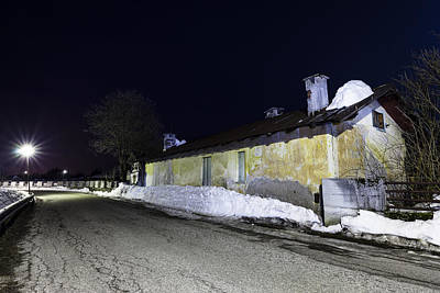 Photograph - Old Barn At Night by Alfio Finocchiaro