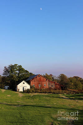Old Barn At Sunset Art Print by Karen Adams