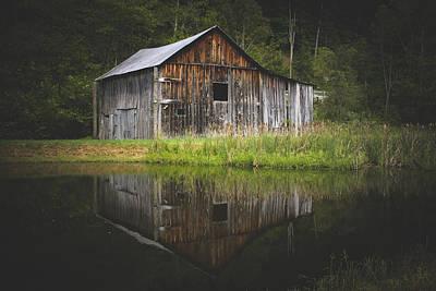 West Virginia Landscape Photograph - Old Barn At The Farm by Shane Holsclaw