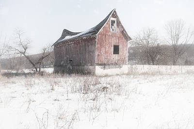 Photograph - Old Barn - Brokeback Shack by Gary Heller