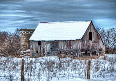 Old Barn Art Print by David  Parry