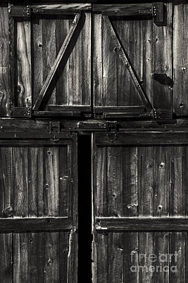 Photograph - Old Barn Door - Bw by Paul W Faust -  Impressions of Light