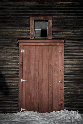Photograph - Old Barn Door by Edward Fielding