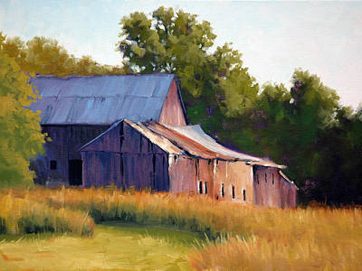 Old Barns Painting - Old Barn Evening by Armand Cabrera