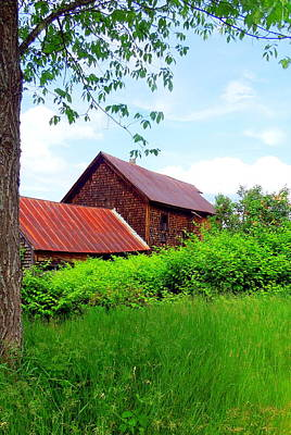 Photograph - Old Barn Framed by Caroline Stella