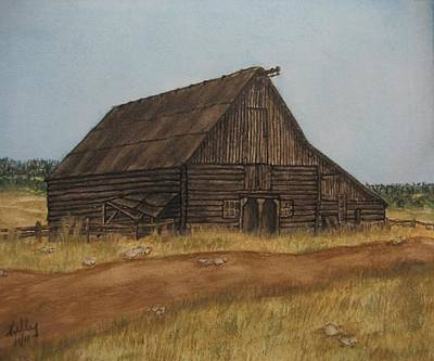 Painting - Old Barn From The Prairies by Kelly Mills