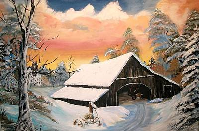Old Barn Guardian Original by Sharon Duguay