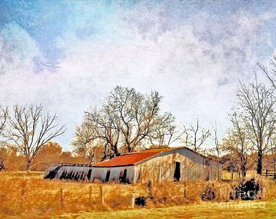 Photograph - Old Barn In Autumn Light by Janette Boyd