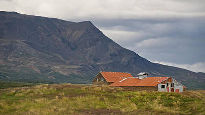 Photograph - Old Barn In Beautiful Icelandic Landscape by Marianne Campolongo