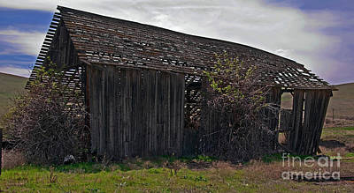 Photograph - Old Barn In Country Landscape Art Prints by Valerie Garner