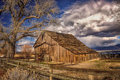 Old Barn In Franktown Art Print by Janis Knight