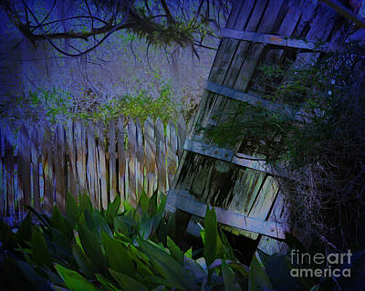 Photograph - Old Barn In Moonlight by Judi Bagwell