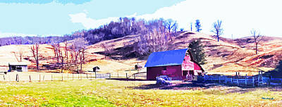 Photograph - Old Barn In November Filtered by Duane McCullough
