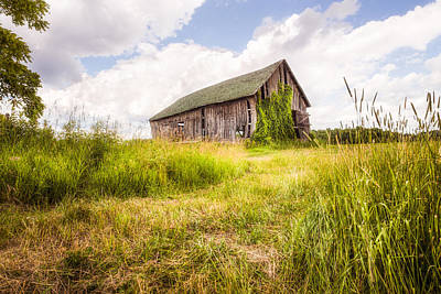 Print featuring the photograph Old Barn In Ontario County - New York State by Gary Heller