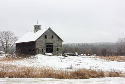 Old Barn In The Snow Art Print by Benjamin Williamson