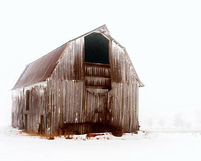 Photograph - Old Barn In The Snow by Dan Dickerson