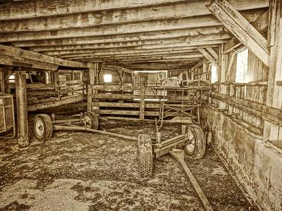 Photograph - Old Barn Interior by Dan Sproul