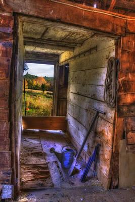 Autumn Scene Photograph - Old Barn Interior by Joann Vitali