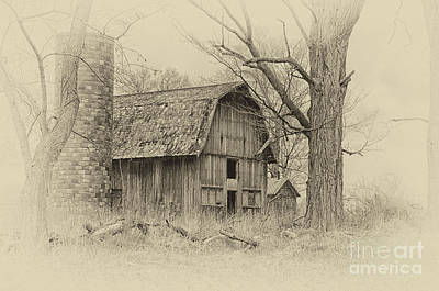 Art Print featuring the photograph Old Barn by JRP Photography