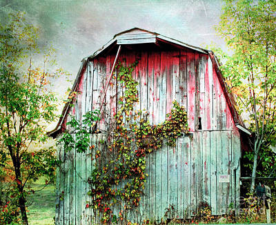 Photograph - Old Barn by Kerri Farley