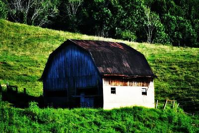 Old Barn Landscape Art Print
