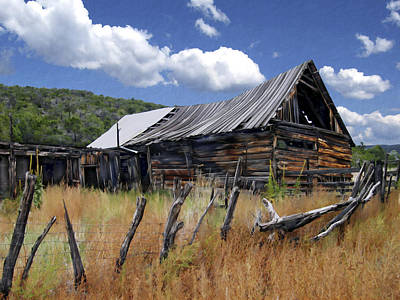 Photograph - Old Barn Las Trampas New Mexico by Kurt Van Wagner