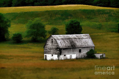 Art Print featuring the photograph Old Barn Near Buckhannon by Dan Friend