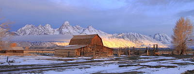 Old Barn On Mormon Row Art Print