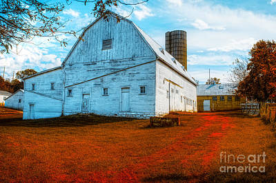 Photograph - Old Barn Rusted  by Peggy Franz