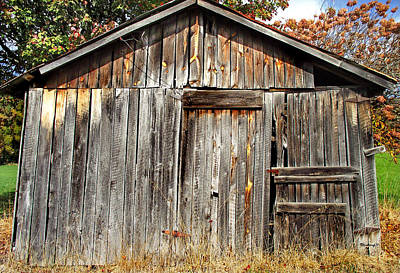 Photograph - Old Barn Siding by Duane McCullough