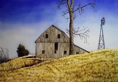 Old Barn Drawing - Old Barn by Todd Spaur