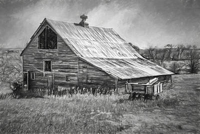 Photograph - Old Nebraska Barn - Wagon by Nikolyn McDonald