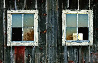 Photograph - Old Barn Windows by Virginia Folkman