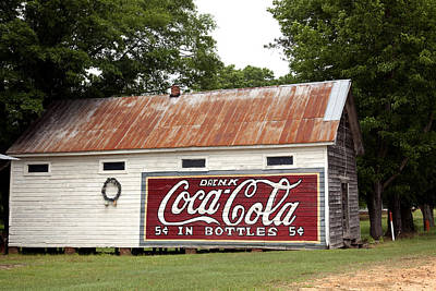 Photograph - Old Barn With Coca Cola Sign In Burnt Corn by Carol M Highsmith
