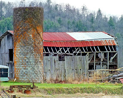 Photograph - Old Barns 2 In Eastern Transylvania County by Duane McCullough