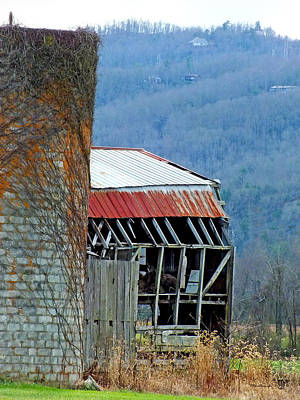 Photograph - Old Barns 3 In Eastern Transylvania County by Duane McCullough