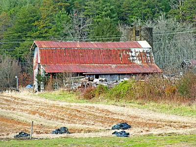 Photograph - Old Barns 4 In Eastern Transylvania County by Duane McCullough