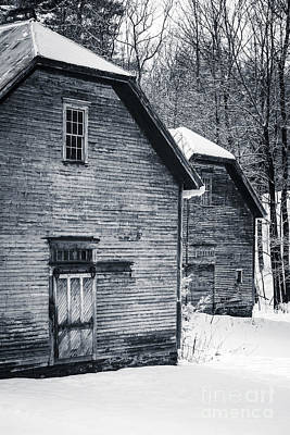 White Barn Photograph - Old Barns Windsor Vermont by Edward Fielding