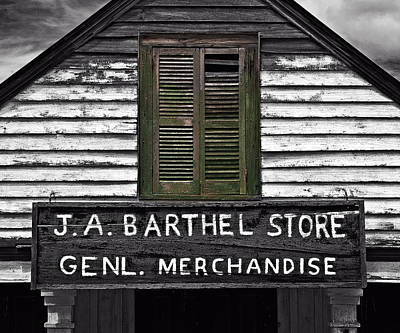 Photograph - Old Barthel Store by Andy Crawford